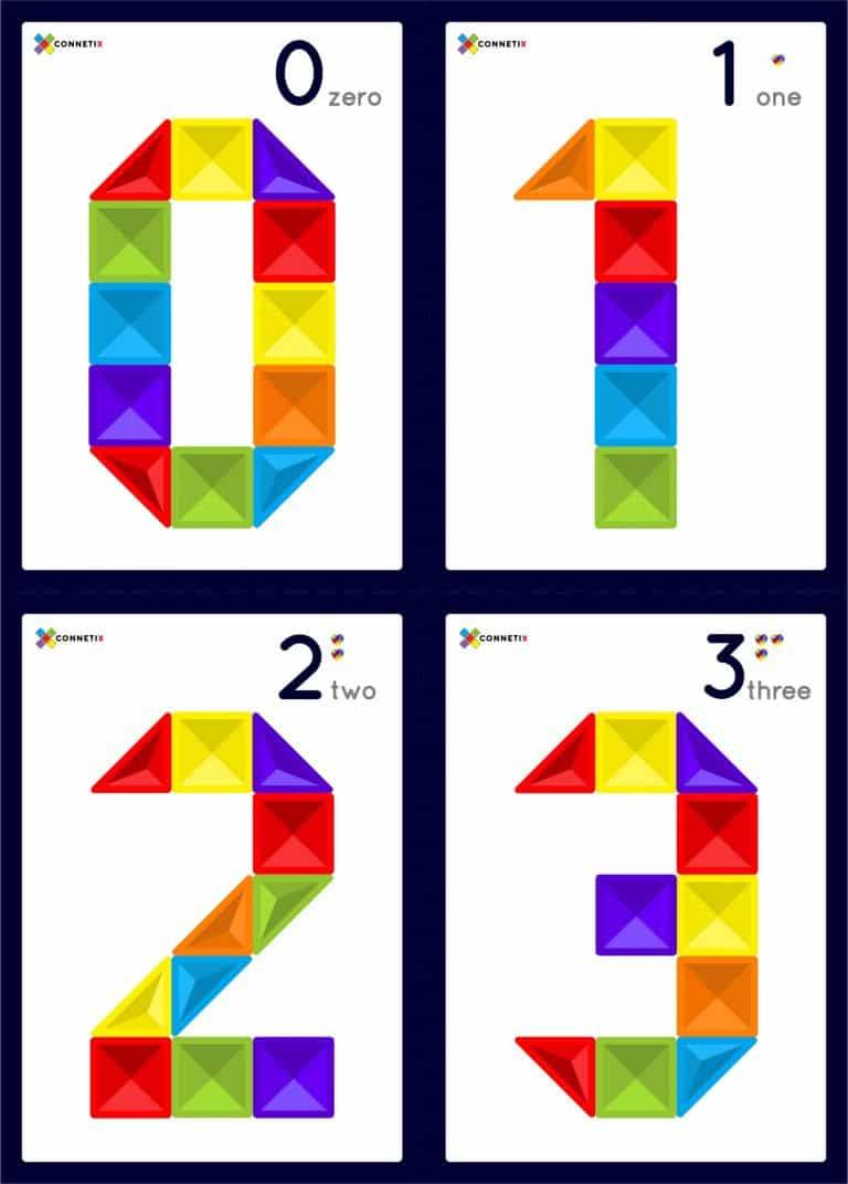 Connetix Tiles - Number Flashcards